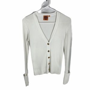 Tory Burch ribbed white sweater